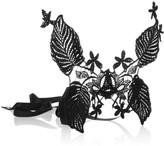 Jennifer Behr Floral silk-lace mask