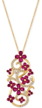 LeVian Le Vian Certified Passion Ruby (2-3/4 ct. t.w.) & Diamond (1/2 ct. t.w.) Pendant Necklace in 14k Gold