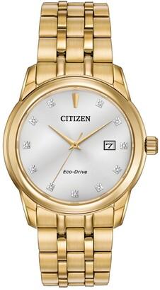 Citizen Men's Diamond Collection Silver Dial Watch, 39mm
