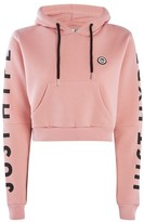 Hype **Dusty Pink Cropped Cut Out Hoodie