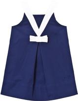 Lili Gaufrette Navy and White Sleeveless Sailor Dress