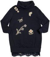 Ermanno Scervino Embellished Viscose Sweatshirt Dress