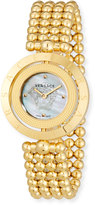 Versace 33mm Eon Reversible-Bezel Watch w/ Beaded Bracelet, Golden