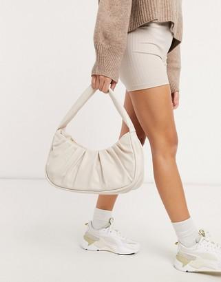 ASOS DESIGN slouchy shoulder bag in off white