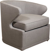 Horchow Dyna St. Clair Light Gray Tweed Swivel Chair