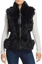 Belle Fare Rabbit Fur & Stretch Wool Vest
