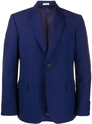 Alexander McQueen Single-Breasted Collared Jacket