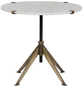 Noir Large Edith Side Table - Antiqued Gold