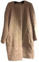 MSGM Beige Wool Coats