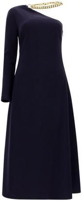 STAUD Choker Detail Midi Dress