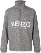 Kenzo logo zip up sweater