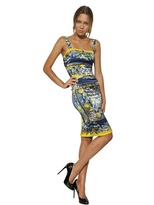 Dolce & Gabbana Printed Silk Satin Dress