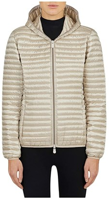 Save The Duck Iris Hooded Jacket (Sand Beige) Women's Clothing