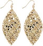 Riah Fashion Women's Earrings Gold - Goldtone Glitter Marquise Drop Earrings