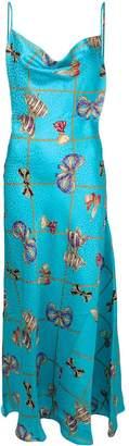 Alessandra Rich bow print dress