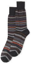 Lorenzo Uomo Wool Stripe Crew Socks