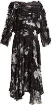 Preen by Thornton Bregazzi Ermin floral-print silk-blend devoré dress