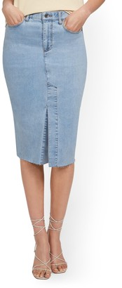 New York & Co. Slit-Front Denim Pencil Skirt