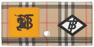 Burberry Vintage Check Applique Continental Wallet
