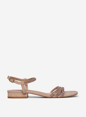 Dorothy Perkins Womens Wide Fit Nude 'Soo' Heeled Sandals