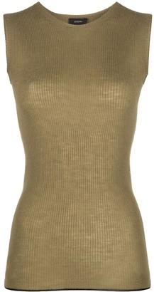 Joseph Sleeveless Knitted Top
