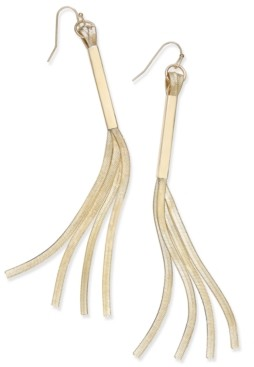 "Thalia Sodi Extra Large 4.5"" Gold-Tone Linear Fringe Earrings, Created for Macy's"