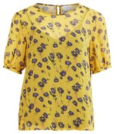 Dorothy Perkins Womens Vila Yellow Floral Print Blouse, Yellow