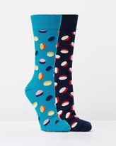 Happy Socks 2-Pack Faded Pills Socks
