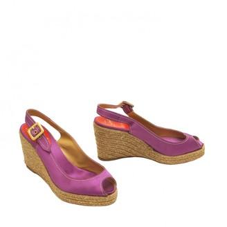 Christian Louboutin Purple Cloth Espadrilles