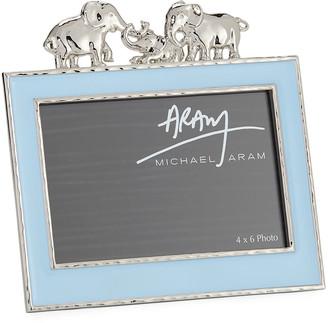 "Michael Aram Boys' Elephant 4"" x 6"" Picture Frame, Blue"
