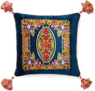 Gucci Velvet floral jacquard cushion