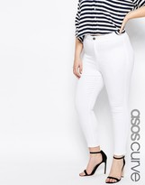 Asos Rivington Jeggings in White