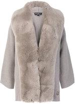 Salvatore Ferragamo fox fur trimmed coat