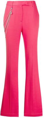 Just Cavalli Chain Detail Flared Trousers