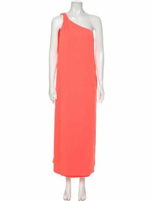 Diane von Furstenberg One-Shoulder Long Dress Orange