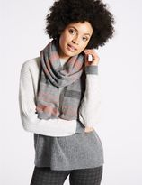 Marks and Spencer Knitted Sparkle Stripe Scarf