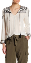 Dex Embroidered Gauze Blouse