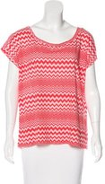 M Missoni Chevron Printed Short Sleeve T-Shirt