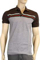 Gucci Men's Cotton Polo GRG Web Top Diamante Shirt 251623 2479 (2XL)