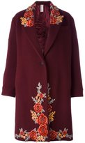 Antonio Marras embroidered single breasted coat - women - Cotton/Polyamide/Polyester/Virgin Wool - 42