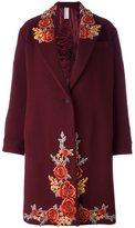 Antonio Marras embroidered single breasted coat - women - Polyamide/Virgin Wool/Viscose/Cotton - 40