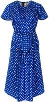 Marni draped scribble pattern dress