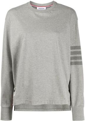 Thom Browne 4-Bar stripe rugby T-shirt