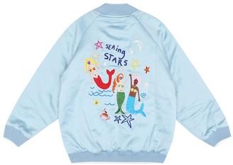 Stella McCartney Embroidered satin track jacket