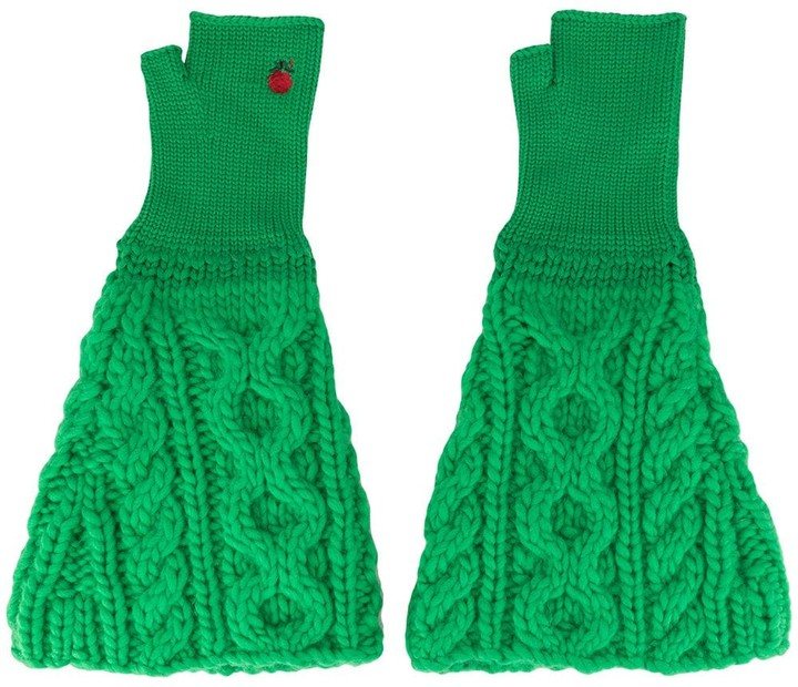 Undercover cable knit gloves