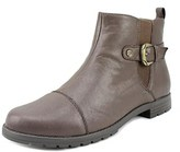 Earth Origins Finley Women Round Toe Leather Bronze Ankle Boot.