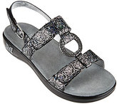 Alegria As Is Leather Multi-Strap Sandals w/ Hardware Detail
