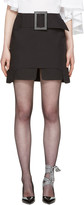 Toga Black Buckle Miniskirt