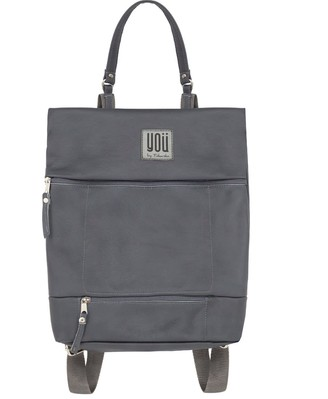 You By Tokarska Leather Backpack Paris Grey
