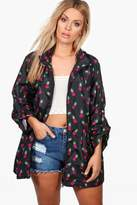 boohoo Plus Suzanne Pineapple Print Mac black